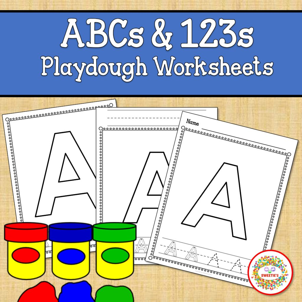 Alphabet And Number Worksheets Playdough