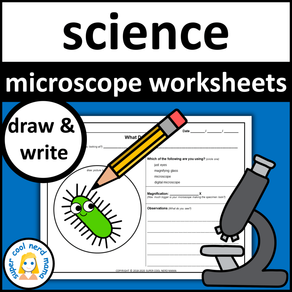 Microscope Drawing Worksheets