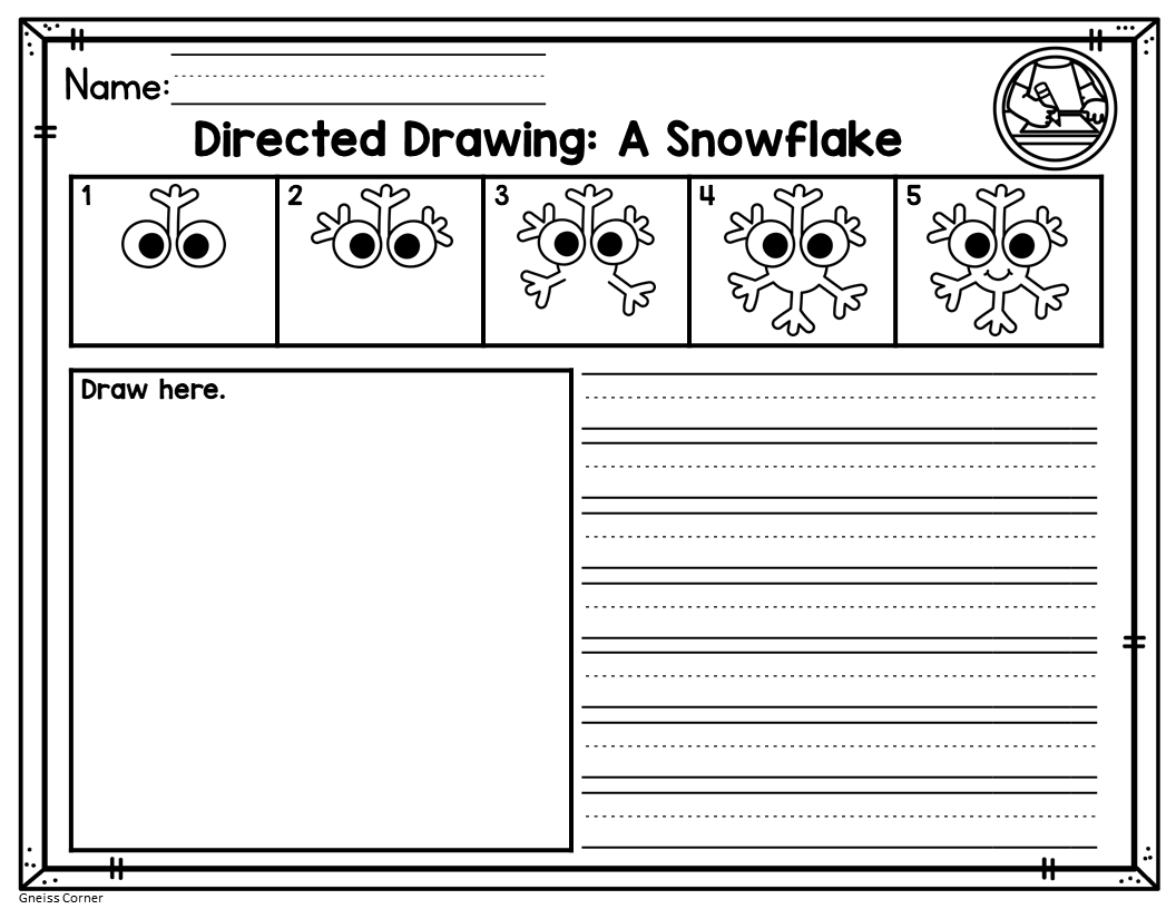 Winter Directed Drawing Activity Distance Learning