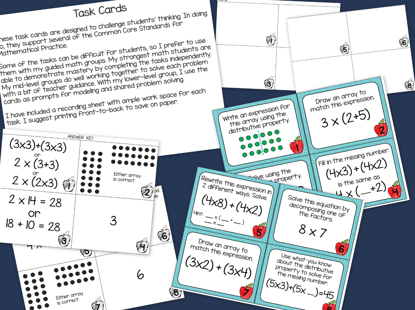 Distributive Property Of Multiplication Worksheet Posters