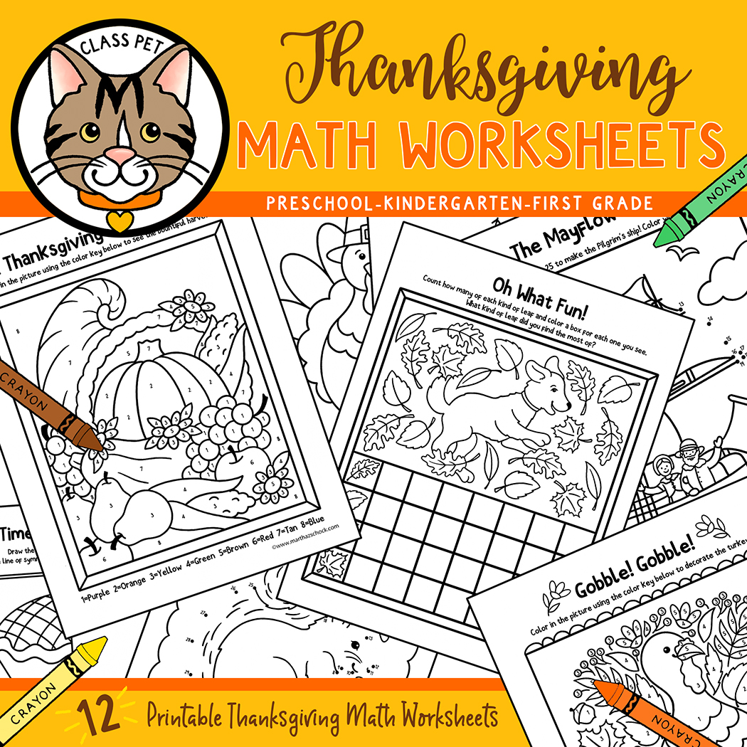 Thanksgiving Math Worksheets For Preschool