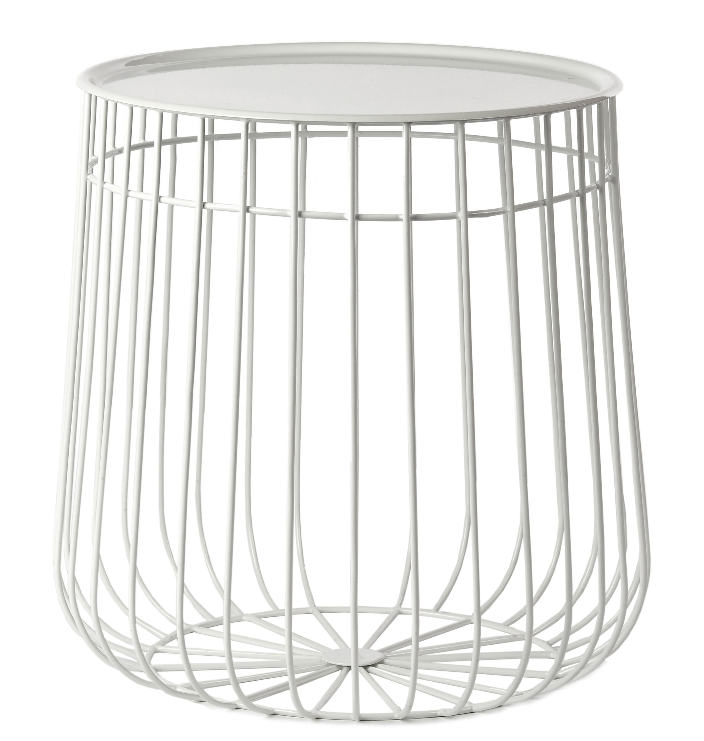 Wire End Table White By Pols Potten