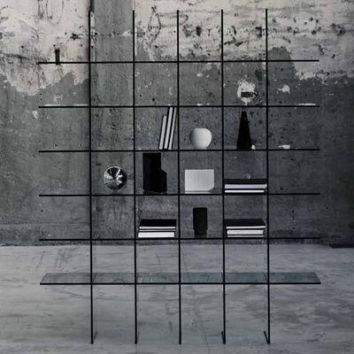 Bibliothque Glass Shelve 60 X 57 Cm Transparent Glas Italia
