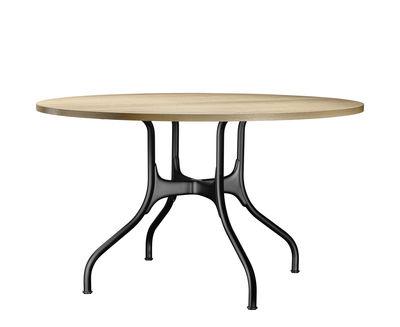 table ronde mila metal bois o 130 cm magis