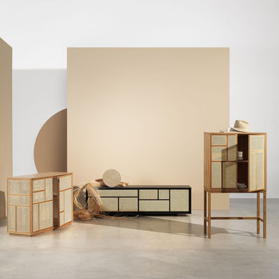 air anrichte tv mobel rattan geflecht l 180 x h 50 cm design house stockholm