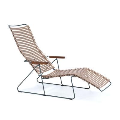 houe click sun lounger beige made in design uk