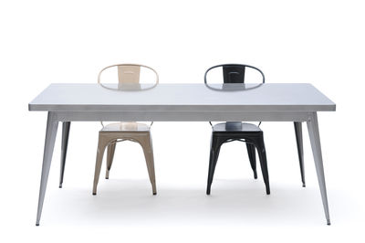 55 rectangular table l 130 x w 70 cm by tolix
