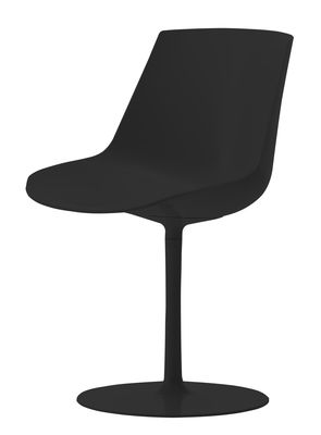 chaise pivotante flow pied central mdf italia