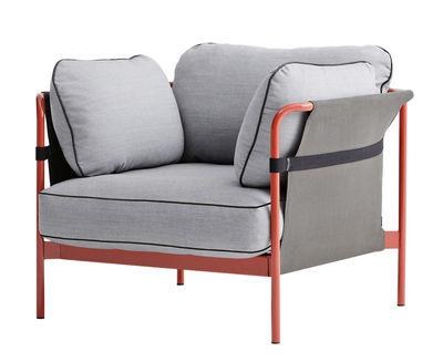 mobilier fauteuils fauteuil rembourre can structure rouge hay gris clair