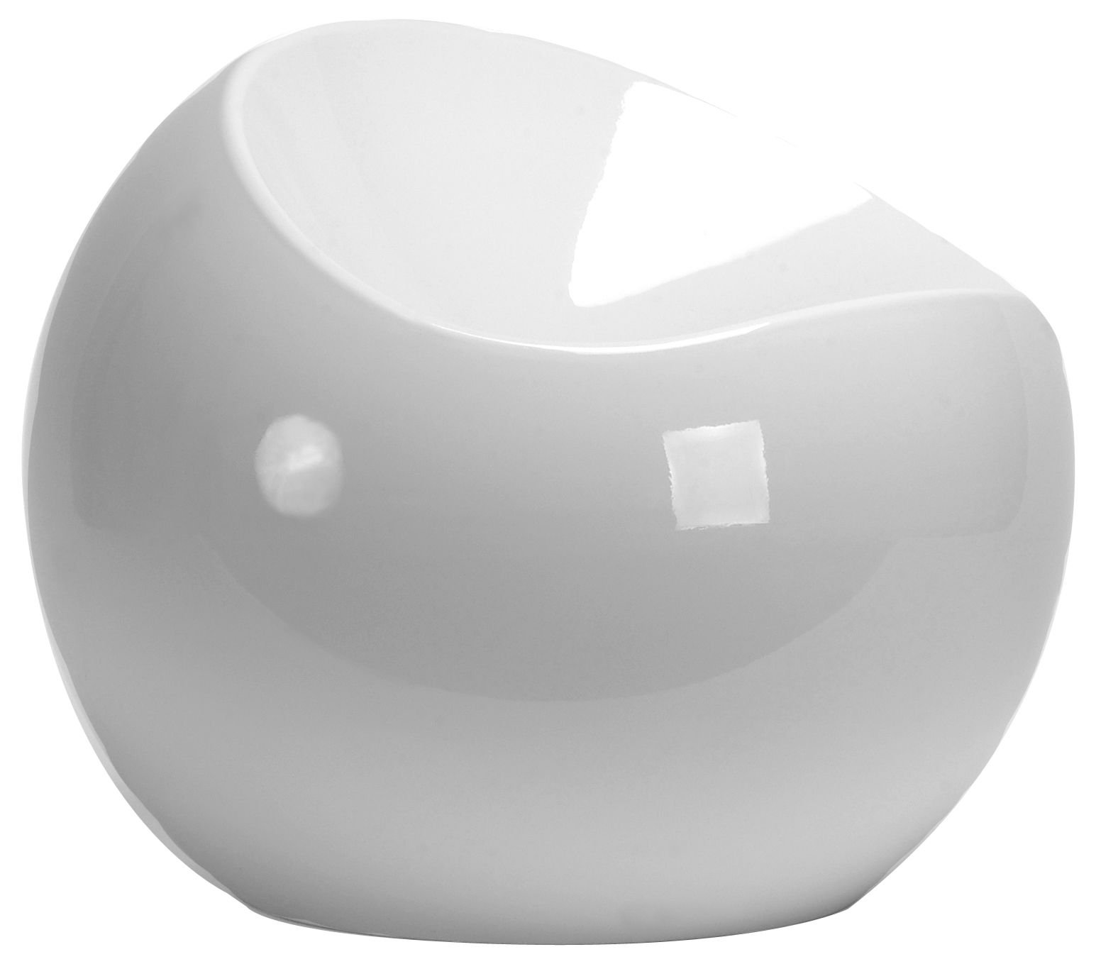 mobilier mobilier ados pouf ball chair xl boom blanc abs laque