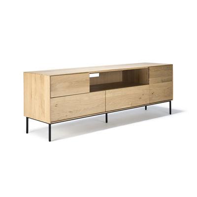 meuble tv whitebird chene massif l 180 cm ethnicraft