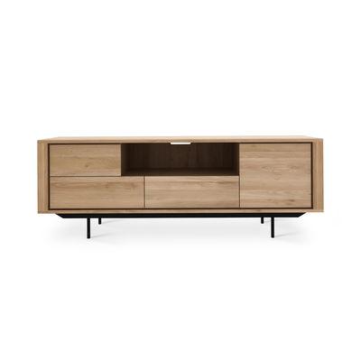 meuble tv shadow chene massif l 180 cm ethnicraft