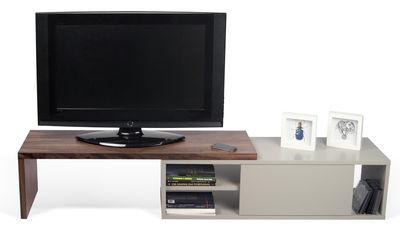 meuble tv extensible slide pivotant l 110 a 203 cm pop up home