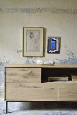 tv mobel whitebird von ethnicraft schwarz holz natur made in design