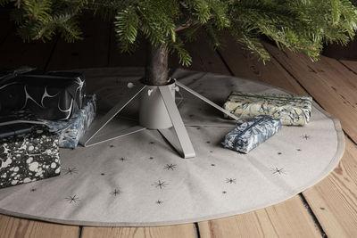 tapis star pour sapin de noel o 120 cm ferm living