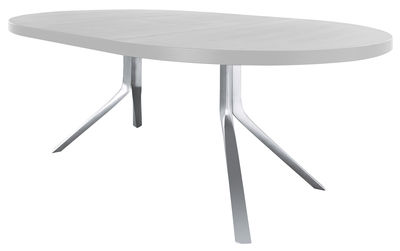 table a rallonge oops l 125 a 180 cm kristalia