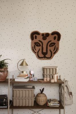 tapis leopard decoration murale 60 x 57 cm ferm living