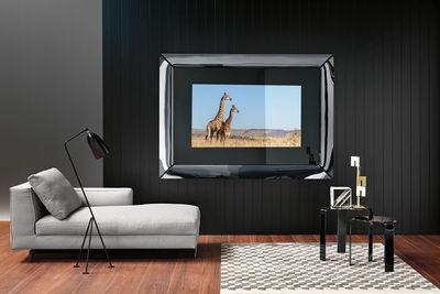 miroir mural caadre tv televiseur ecran lcd 42 pouces sony integre 155 x 140 cm fiam