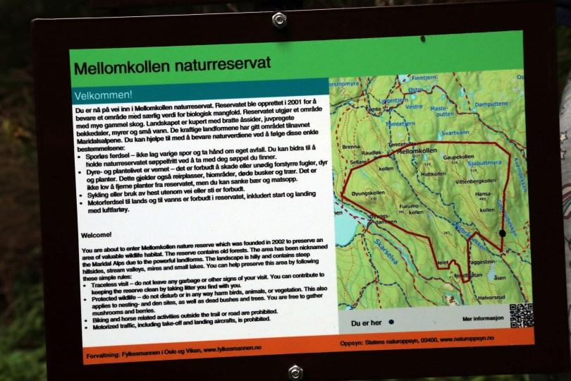 Mellomkollen naturreservat i Maridalen er et skogsområde med bratte åssider, dype kløfter og en trolsk stemning. I reservatet gjelder spesielle regler, som alle som ferdes her må kjenne til.