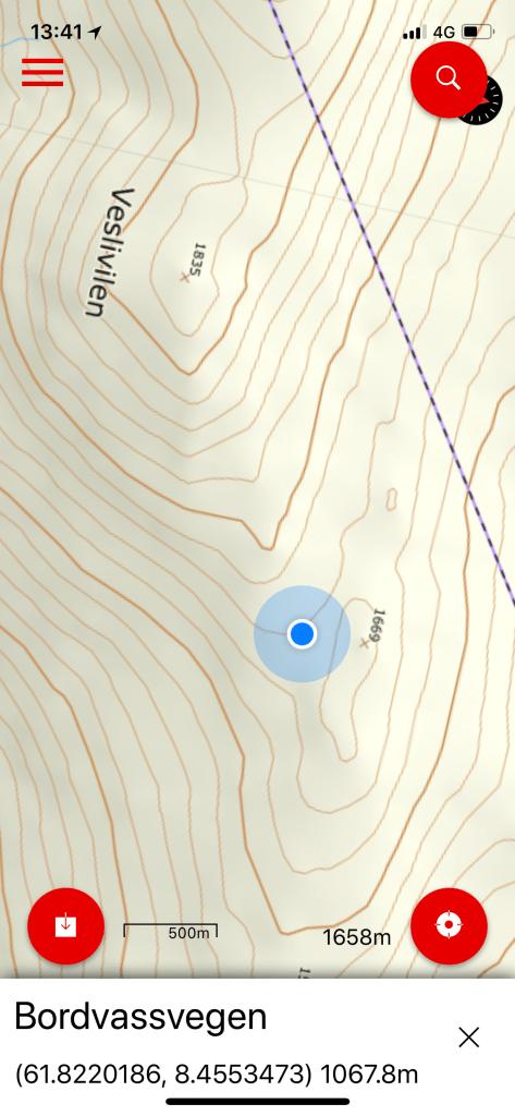 På vei mot målet: Storivilen 2068 meter over havet.
