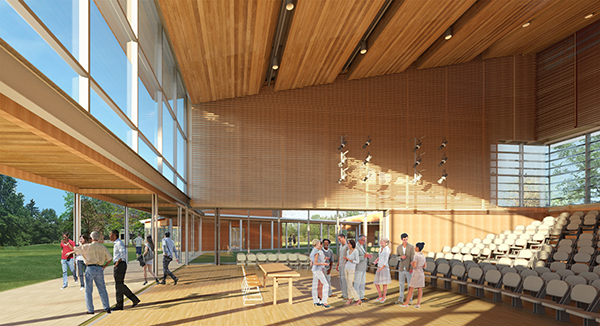 [Rendering of Tanglewood's new building complex]