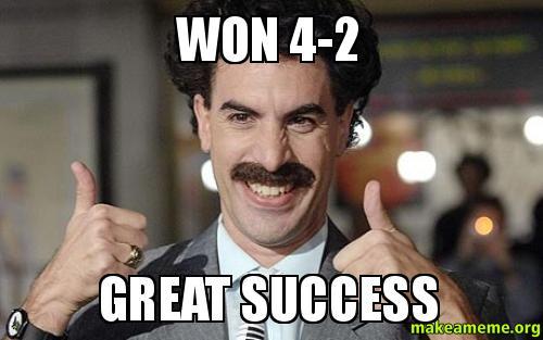 Won 4 2 Great Success Football Borat Make A Meme