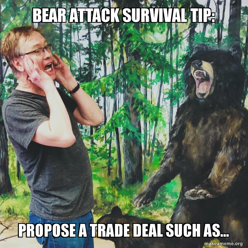 Bear Attack Survival Tip Propose A Trade Deal Such As Make A