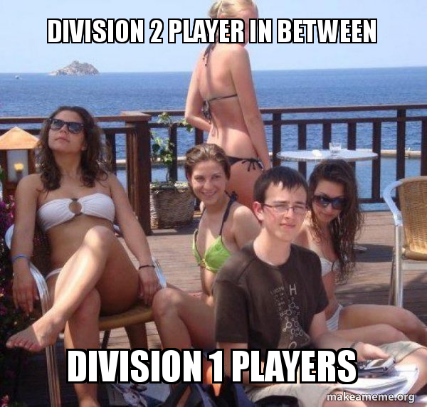 Division 2 Player In Between Division 1 Players Priority Peter