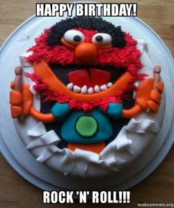Happy Birthday Rock N Roll Cake Day Make A Meme