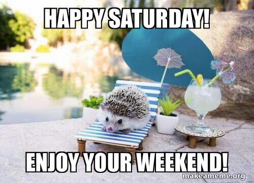 Happy Saturday Enjoy Your Weekend Make A Meme