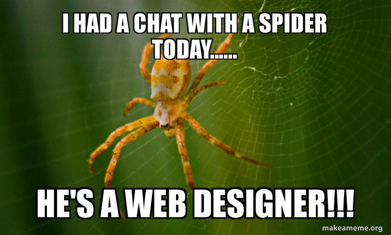 I Had A Chat With A Spider Today He S A Web Designer