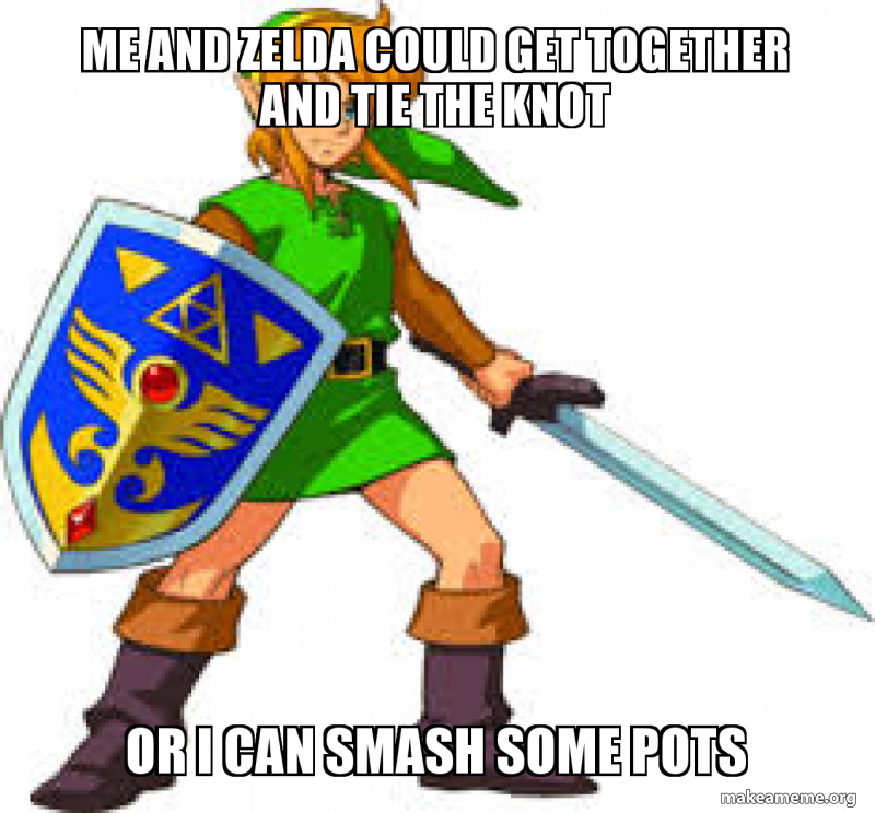 Me And Zelda Could Get Together And Tie The Knot Or I Can Smash