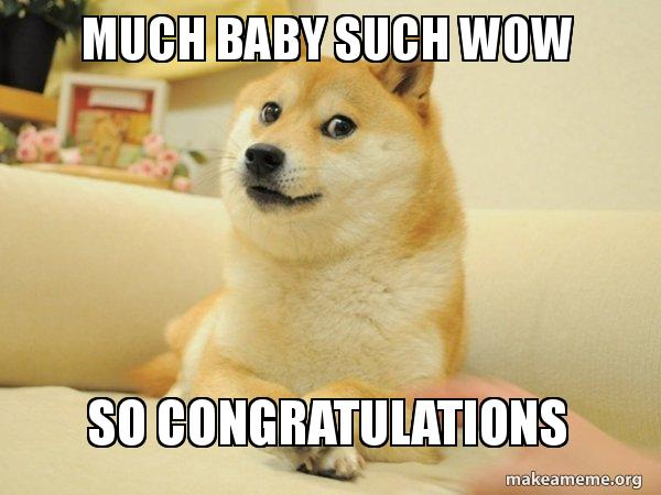 Much Baby Such Wow So Congratulations Doge Make A Meme