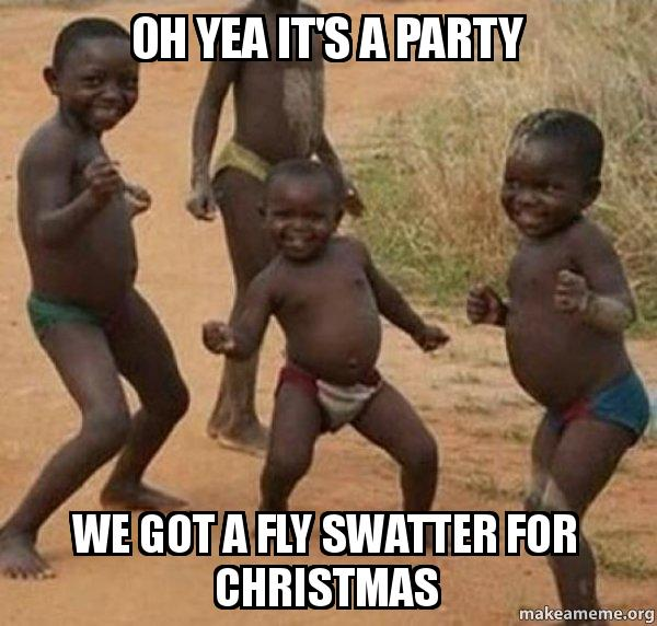 Oh Yea It S A Party We Got A Fly Swatter For Christmas Dancing