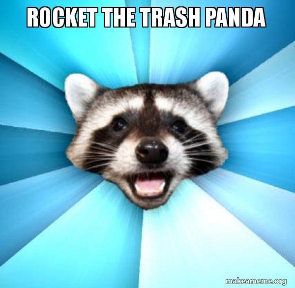 Rocket The Trash Panda Lame Pun Coon Make A Meme