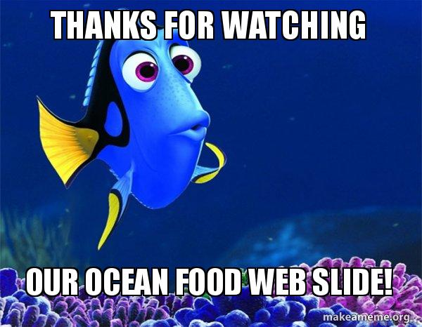Thanks For Watching Our Ocean Food Web Slide Dory From Nemo 5