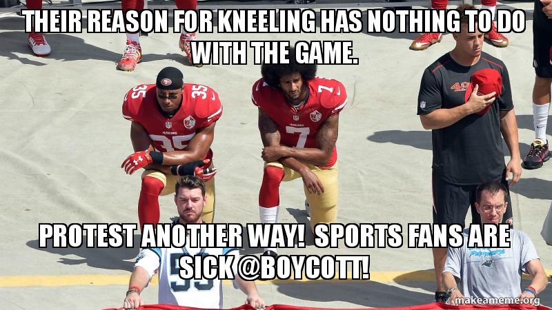 Their Reason For Kneeling Has Nothing To Do With The Game Protest