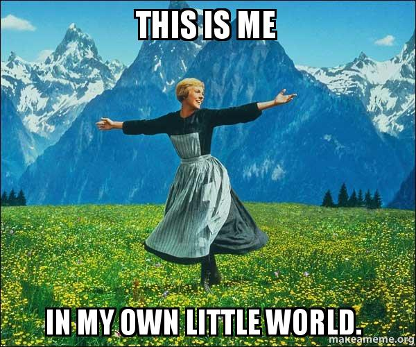 This Is Me In My Own Little World Sound Of Music Make A Meme