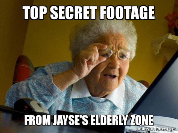 Top Secret Footage From Jayse S Elderly Zone Internet Grandma