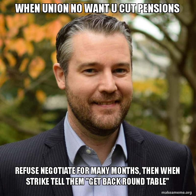 When Union No Want U Cut Pensions Refuse Negotiate For Many Months
