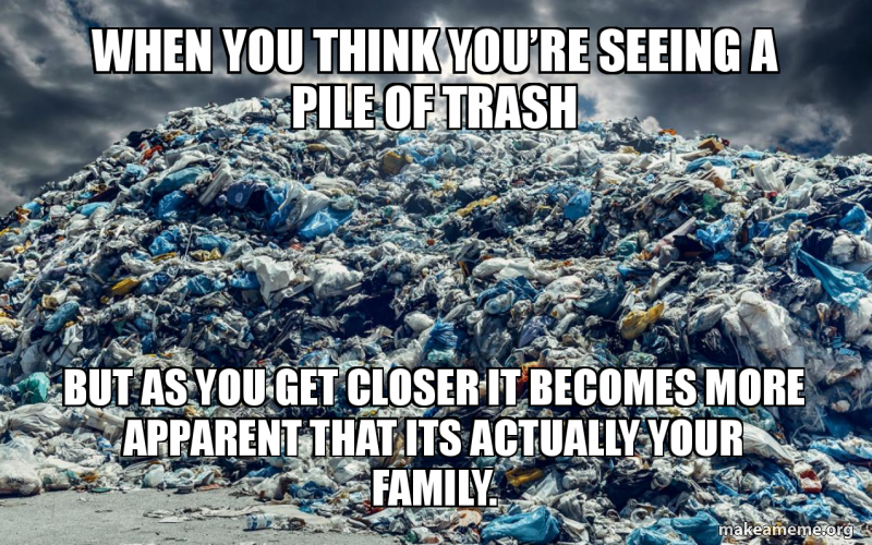 When You Think You Re Seeing A Pile Of Trash But As You Get Closer