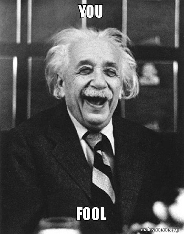 You Fool Laughing Albert Einstein Make A Meme