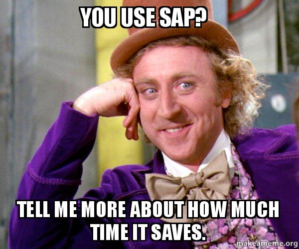 You Use Sap Tell Me More About How Much Time It Saves Willy