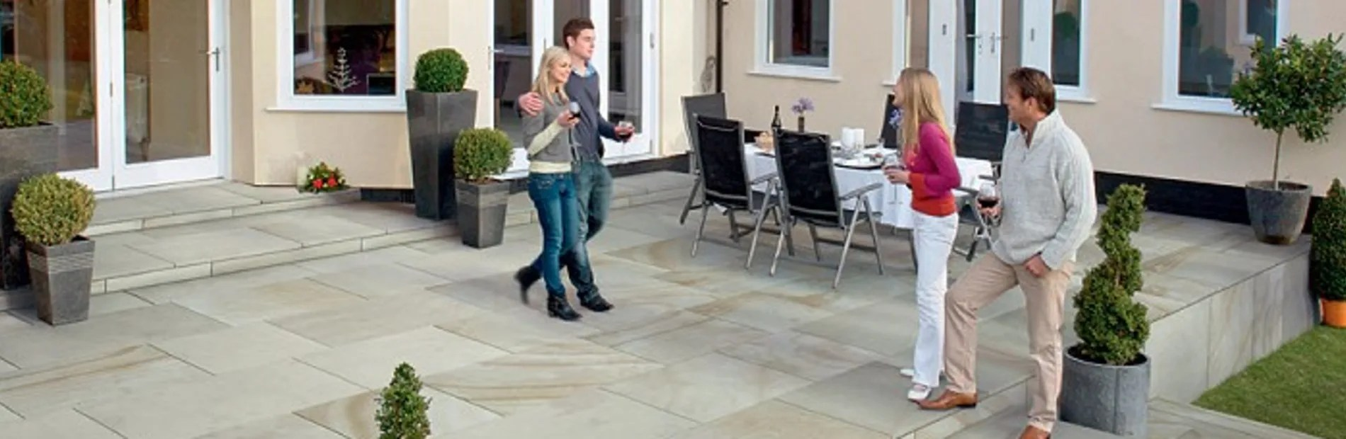 natural stone patio ideas marshalls