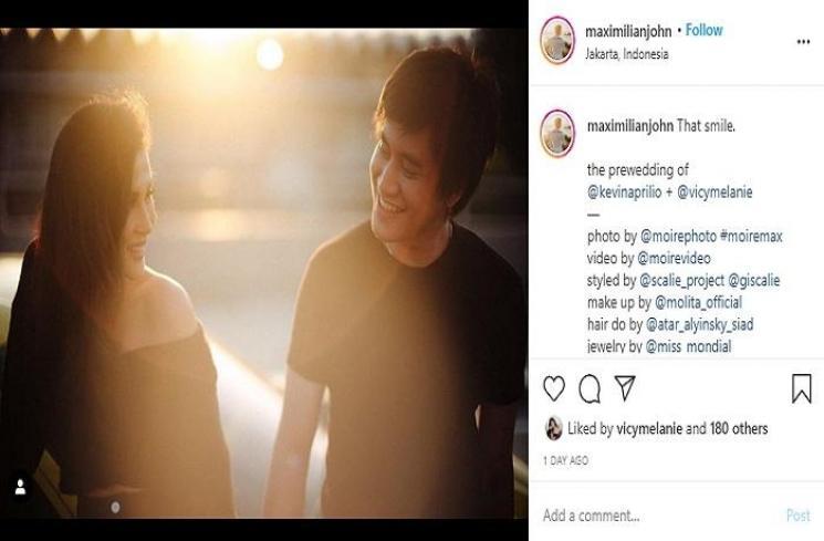 Prewedding Kevin Aprilio dan Vicy Melanie (Instagram @maximilianjohn)