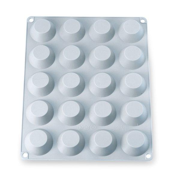 grande flexi plaque silicone 20 mini tartelettes