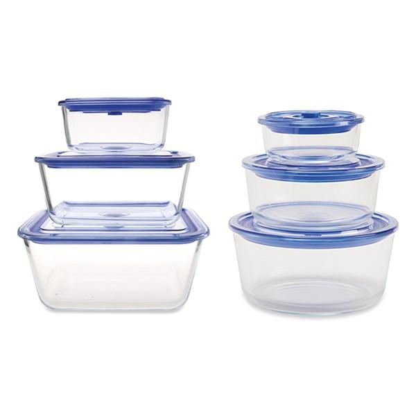 lot de 6 boites de conservation en verre