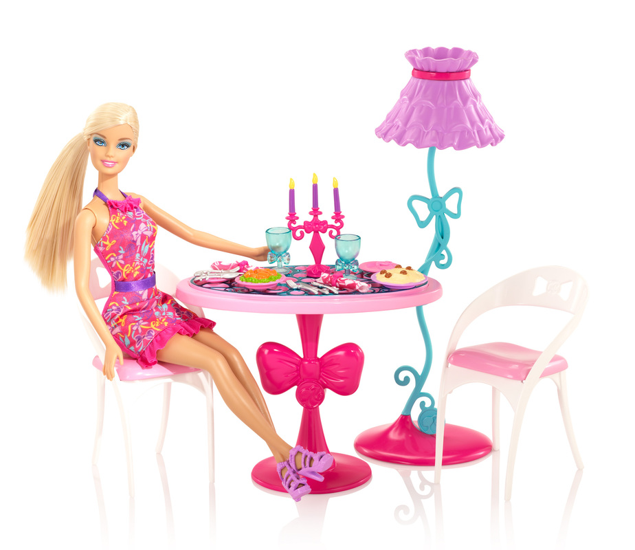 Image Result For Barbie Glam Dining Room Furniture And Doll Set