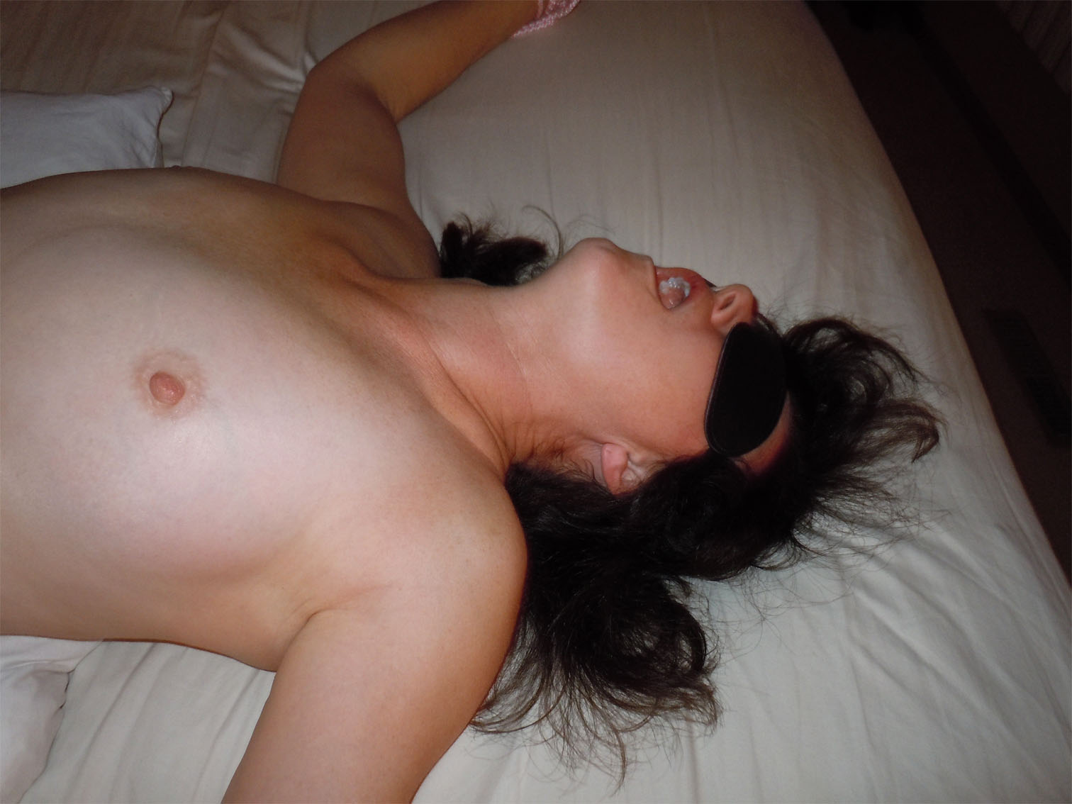 blindfolded wife tricked