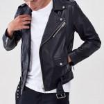 Men Black Biker Jacket Men Jacket Mauvetree
